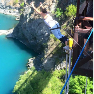 The Freedom Travellers New Zealand Bungy Jump Jumppppp!!!!